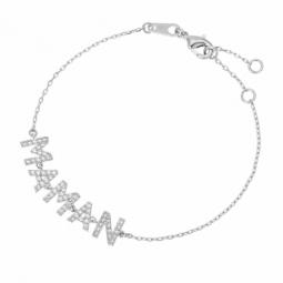 Bracelet en argent rhodié et oxydes de zirconium, MAMAN
