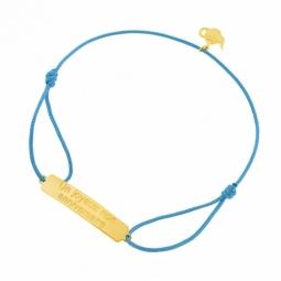 Bracelet cordon en or jaune, Un joyeux non anniversaire, Alice au pays des merveilles Disney