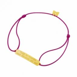 Bracelet cordon en or jaune, Tout le monde veut devenir un cat, Les Aristochats Disney