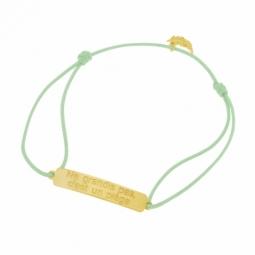 Bracelet cordon en or jaune, Ne grandis pas, c'est un piège, Peter Pan Disney