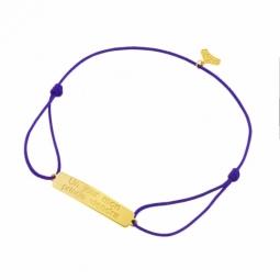 Bracelet cordon en or jaune, Un jour mon prince viendra, Princesses Disney