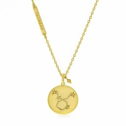 Collier en plaqué or et oxydes de zirconium, taureau