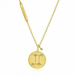 Collier en plaqué or et oxydes de zirconium, gemeaux