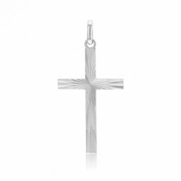 Croix en argent rhodié