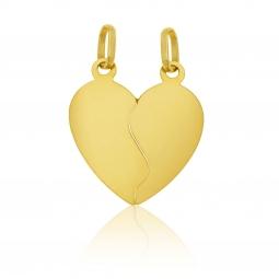 Pendentif coeur sécable en or jaune