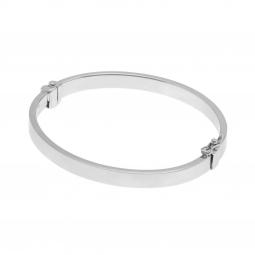Bracelet jonc en argent rhodié