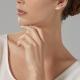 Boucles d'oreilles en or rhodié, perles de culture et diamants - P