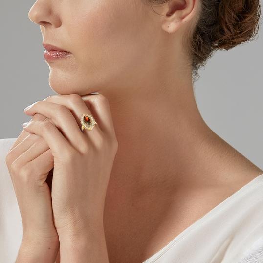 manege a bijoux bague or blanc grenat