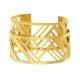 Bracelet jonc Méli Versa en acier doré, 30mm - B