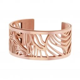 Bracelet jonc Méli Versa en acier rose, 30mm