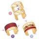 Bracelet jonc Méli Versa en acier rose, 20mm - D
