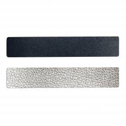 Simili cuir bleu-argenté pour bracelet jonc Méli Versa 30mm
