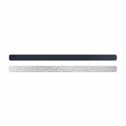 Simili cuir bleu-argenté pour bracelet jonc Méli Versa 10mm