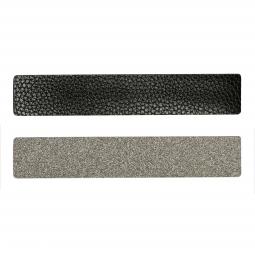 Simili cuir noir-pailleté pour bracelet jonc Méli Versa 30mm