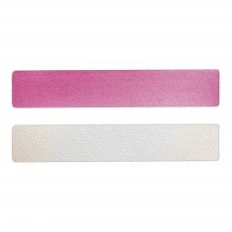 Simili cuir rose-blanc pour bracelet jonc Méli Versa 30mm