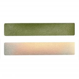 Simili cuir vert-doré pour bracelet jonc Méli Versa 30mm