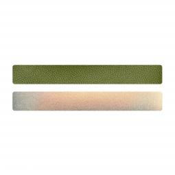 Simili cuir vert-doré pour bracelet jonc Méli Versa 20mm