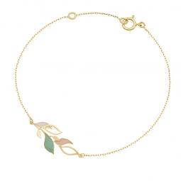 Bracelet or jaune et laque