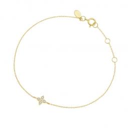 Bracelet or jaune et rhodié, diamants