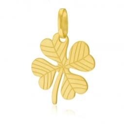 Pendentif en or jaune, trèfle