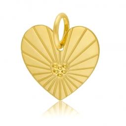 Pendentif en or jaune, coeur