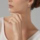 Boucles d'oreilles en bronze plaqué or rose, nacre grise et spinelles - P