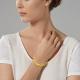 Bracelet en or jaune mat et lisse  - P