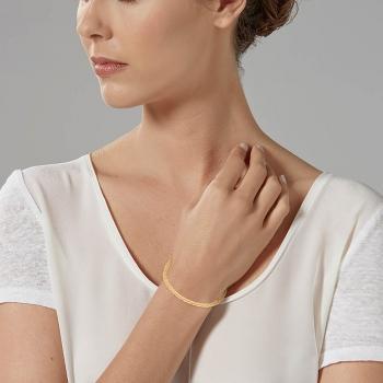 Bracelet en or jaune, maille palmier