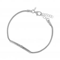 Bracelet en argent rhodié, ancre marine, junior