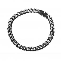 Bracelet en acier et acier noir mat