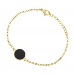 Bracelet en acier doré et laque pailletée