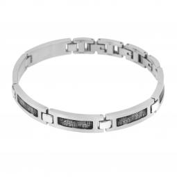 Bracelet en acier et acier vieilli