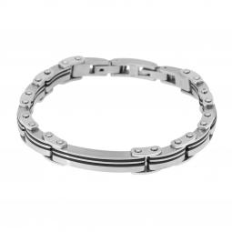 Bracelet en acier et résine