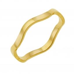 Alliance en or jaune 3 mm, vague