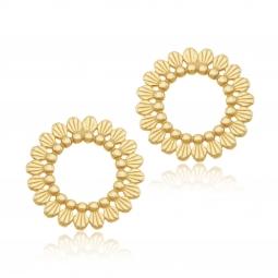Boucles d'oreilles en argent doré