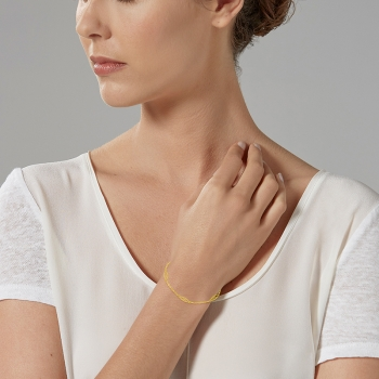Bracelet en or jaune, filigrane