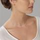 Collier en argent rhodié, barette facetée - P