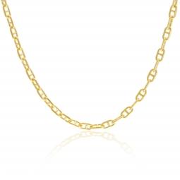 Chaîne en or jaune, maille marine forçat