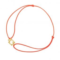 Bracelet cordon en or jaune, tortue
