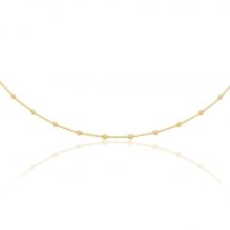 Collier câble en or jaune et titane