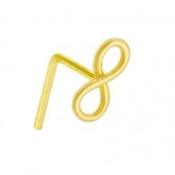 Piercing de nez en or jaune, infini