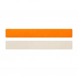 Simili cuir orange fluo-blanc cassé pour bracelet jonc Méli Versa 20mm