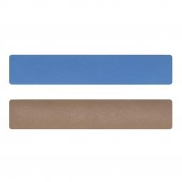 Simili cuir bleu-beige pour bracelet jonc Méli Versa 30mm