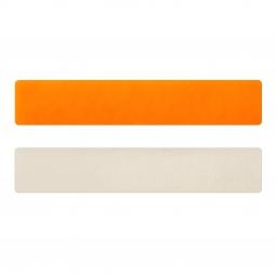 Simili cuir orange fluo-blanc cassé pour bracelet jonc Méli Versa 30mm