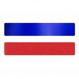 Simili cuir bleu-rouge pour bracelet jonc Méli Versa 30mm