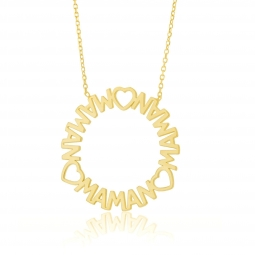 Collier en or jaune, Maman