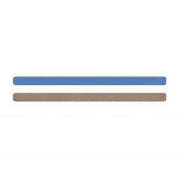 Simili cuir bleu-beige pour bracelet jonc Méli Versa 10mm