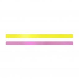 Simili cuir jaune fluo-rose pour bracelet jonc Méli Versa 10mm