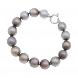 Bracelet en or gris, perles de culture de Tahiti 10-12.5 mm