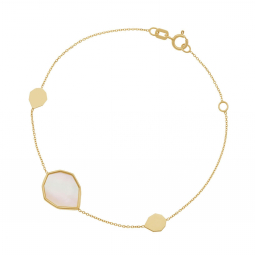 Bracelet en or jaune et nacre
